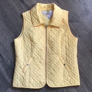 NWT Christopher & Banks Yellow Vest Medium
